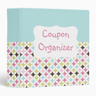 Pastel Coupon Organizer 3 Ring Binder
