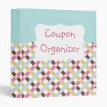 Pastel Coupon Organizer Vinyl Binder