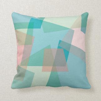 Pastel crams throw pillow