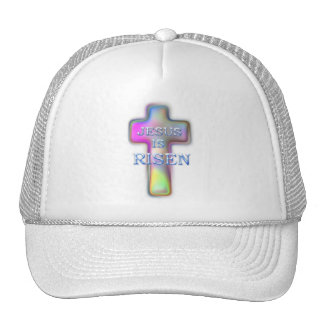 Pastel Cross-Jesus is RISEN Trucker Hat