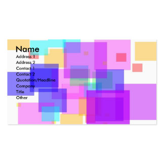 Pastel  Cubes Double-Sided Standard Business Cards (Pack Of 100)