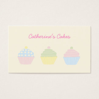 Pastel Cupcakes Bakery Business Card