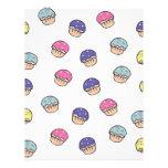 Pastel Cupcakes Pattern Custom Letterhead