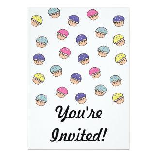 Pastel Cupcakes Pattern 5x7 Paper Invitation Card