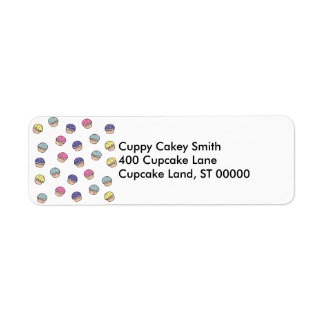 Pastel Cupcakes Pattern Label