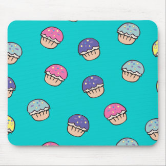 Pastel Cupcakes Pattern Mouse Pad