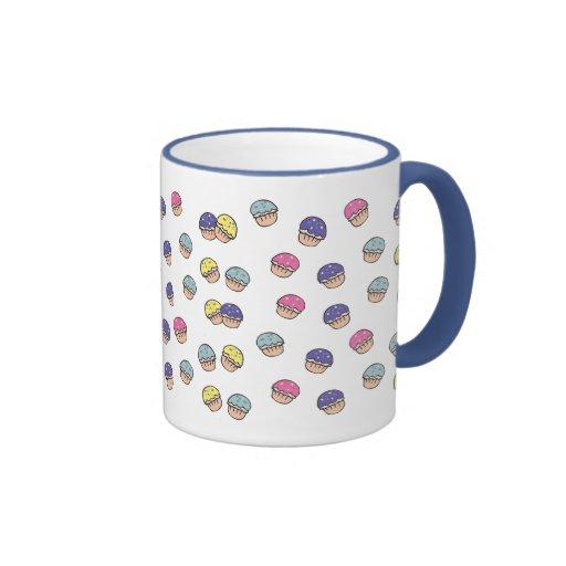 Pastel Cupcakes Pattern Mugs