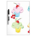 Pastel Cute Cupcakes Dry-Erase Boards