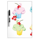 Pastel Cute Cupcakes Dry Erase Whiteboard