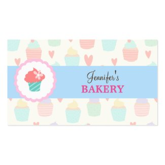 Lovepatisserie business cards pastel cute kawaii bakery businesscard double sided standard business cards pack of 100 colourmoves