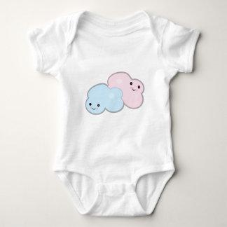 pastel cute kawaii clouds baby bodysuit