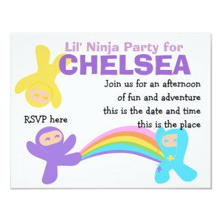 Pastel Cute Little Ninjas Card