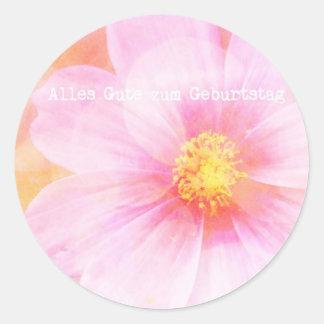 Pastel Daisy Alles Gutes zum Geburtstag Classic Round Sticker