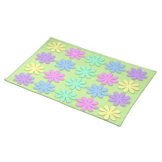 Pastel Daisy Pattern Placemat Cloth Place Mat
