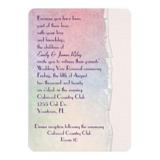 Pastel Damask with torn edge Card