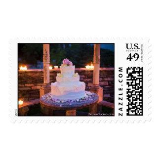 Pastel de bodas - 4 sellos postales