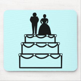 Pastel de bodas alfombrilla de ratones