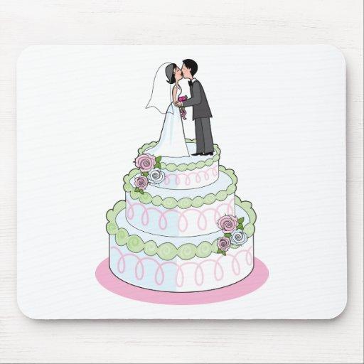 Pastel de bodas alfombrillas de ratón