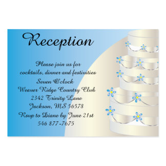 Pastel de bodas azul suave tarjetas de visita grandes