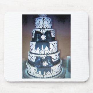 pastel de bodas blanco y negro tapete de ratones