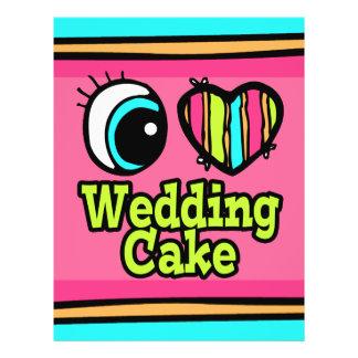 """Pastel de bodas brillante del amor del corazón I d Folleto 8.5"""" X 11"""""""