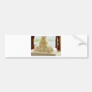 Pastel de bodas etiqueta de parachoque
