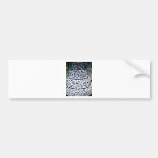 pastel de bodas pegatina de parachoque