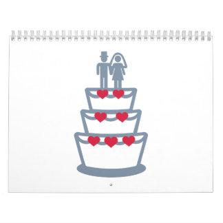 Pastel de bodas calendarios
