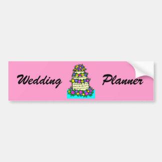 Pastel de bodas colorido etiqueta de parachoque