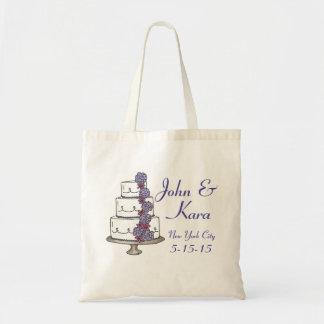Pastel de bodas con gradas personalizado con el bolsa tela barata