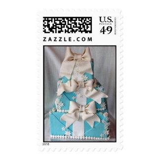 Pastel de bodas de la caja de Tiffany Sello