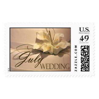 Pastel de bodas de la cala de julio sellos