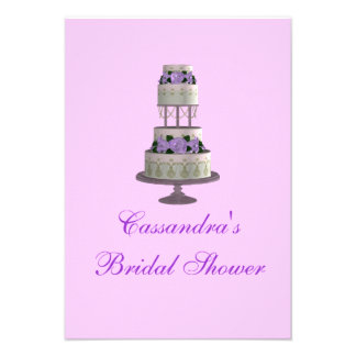 Pastel de bodas de la ducha nupcial - lavanda comunicado personal