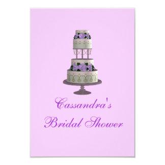 """Pastel de bodas de la """"ducha nupcial"""" - [lavanda] invitación 8,9 x 12,7 cm"""