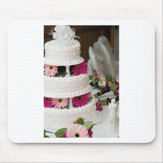 Pastel de bodas de la margarita del Gerbera Alfombrillas De Raton