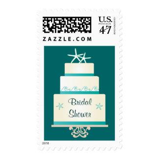Pastel de bodas de las estrellas de mar - trullo sellos