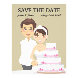 "Pastel de bodas del corte folleto 8.5"" x 11"""