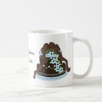 Pastel de bodas del diseñador taza clásica