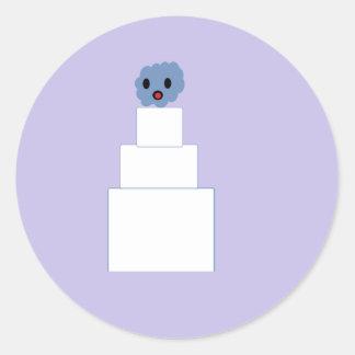 Pastel de bodas del zombi pegatina redonda