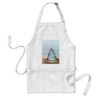 Pastel de bodas elegante de Shell del mar Delantal