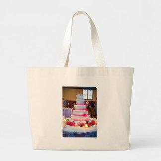 Pastel de bodas hermoso bolsa tela grande