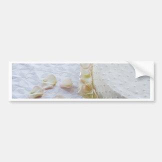 Pastel de bodas hermoso etiqueta de parachoque