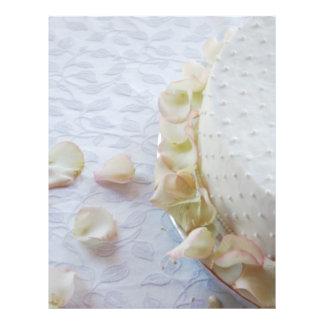 "Pastel de bodas hermoso folleto 8.5"" x 11"""