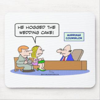 pastel de bodas hogged consejero de la boda del no tapetes de ratones