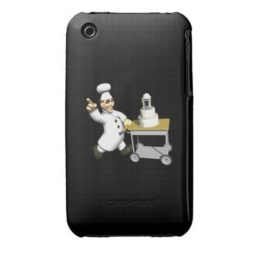 Pastel de bodas iPhone 3 Case-Mate funda
