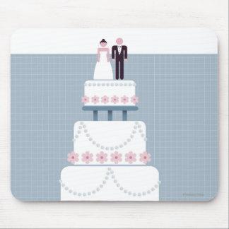 Pastel de bodas mousepads