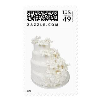 Pastel de bodas multi de la capa estampilla