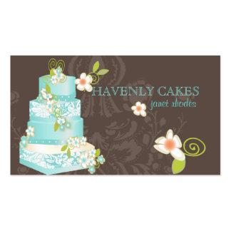 Pastel de bodas panadería pâtisserie azules de Pix Plantilla De Tarjeta Personal