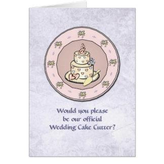 Pastel de bodas - placa - uso múltiple del boda felicitaciones
