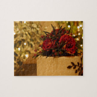 Pastel de bodas rematado con los rosas puzzle